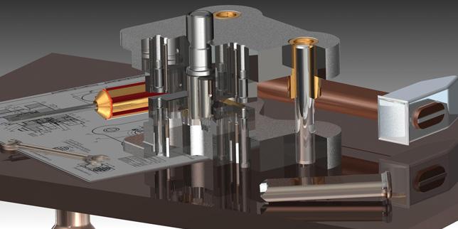 Специализираният софтуерен модул за конструиране на щанци NX Mach 3 Progressive Die Design значително улеснява процесите
