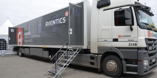 БР Техника представи най-новите продукти на Aventics в изложбен камион