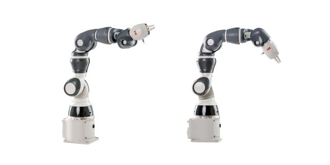 Еднорък колаборативен робот YuMi IRB 14050 от ABB