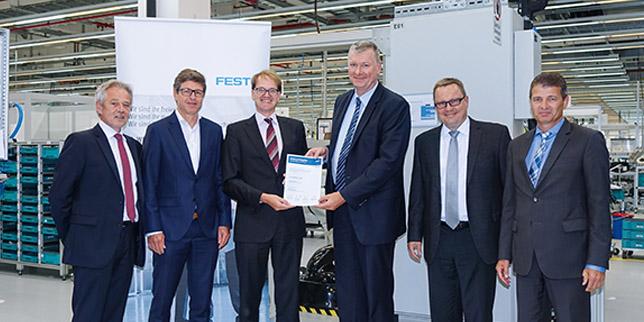 Festo с трети пореден сертификат за предпочитан доставчик на Bosch