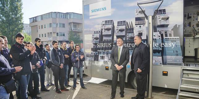 Демонстрационният камион SIRIUS обиколи България по време на традиционното автошоу на Siemens