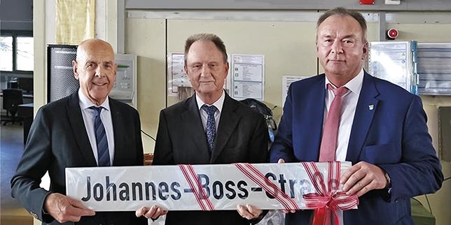 """Управителят на JBO Хайнц Бос получи """"собствена"""" улица за 80-ия си рожден ден"""