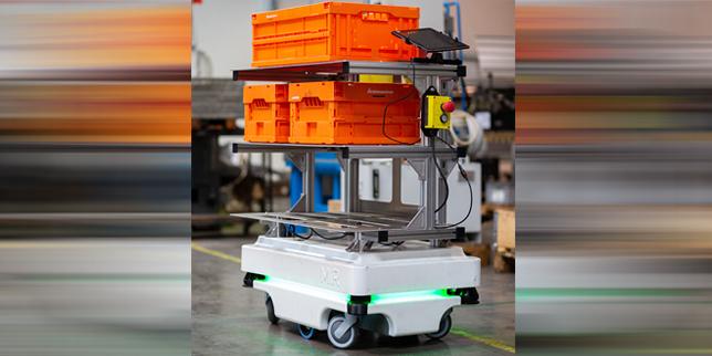 Иновации във вътрешно-складовите транспортни дейности с датските автономни мобилни роботи MiR