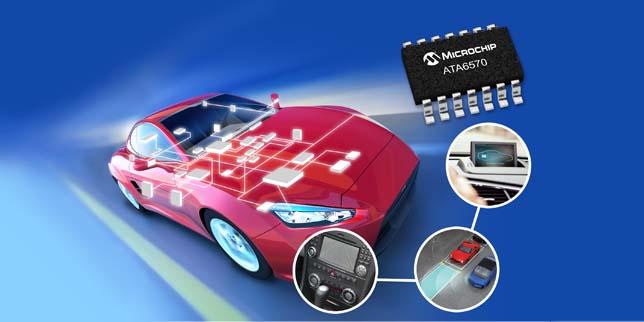 Microchip представи нови CAN приемо-предаватели за автомобилостроенето