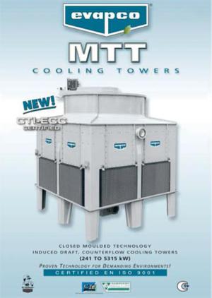 Евромаркет представя новите водоохладителни кули MTT на EVAPCO